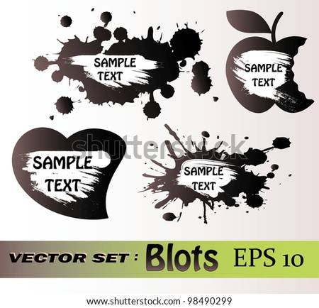 Blots vector set