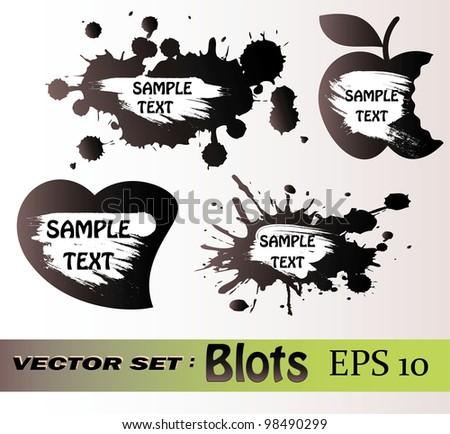 Blots vector set