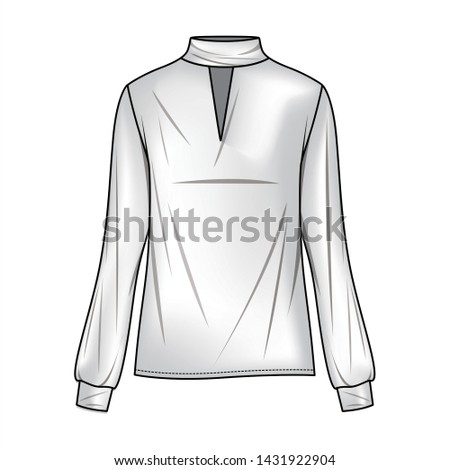 Blouse Fashion flat sketche template