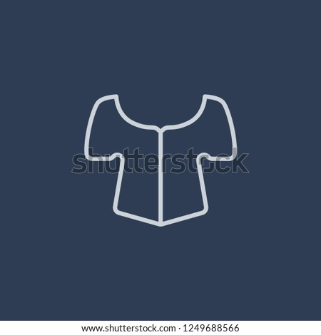 Blouse icon. Blouse linear design concept from Clothes collection. Simple element vector illustration on dark blue background.