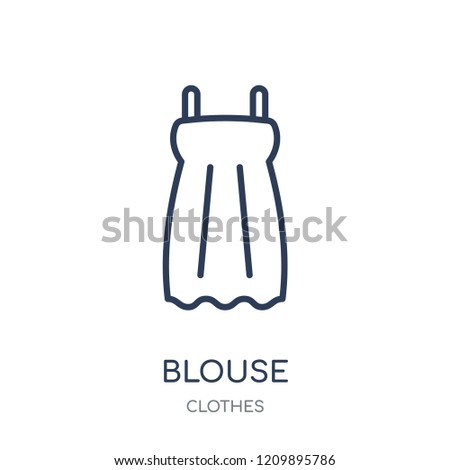 Blouse icon. Blouse linear symbol design from Clothes collection. Simple outline element vector illustration on white background.