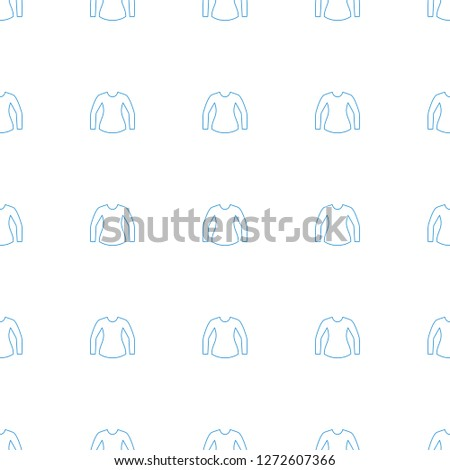 blouse icon pattern seamless white background. Editable line blouse icon. blouse icon pattern for web and mobile.