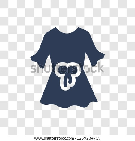 Blouse icon. Trendy Blouse logo concept on transparent background from Clothes collection