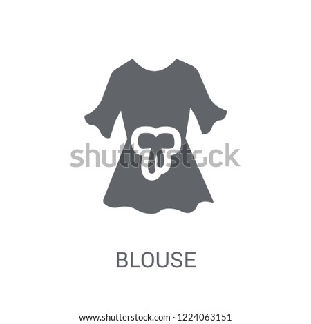 Blouse icon. Trendy Blouse logo concept on white background from Clothes collection. Suitable for use on web apps, mobile apps and print media.