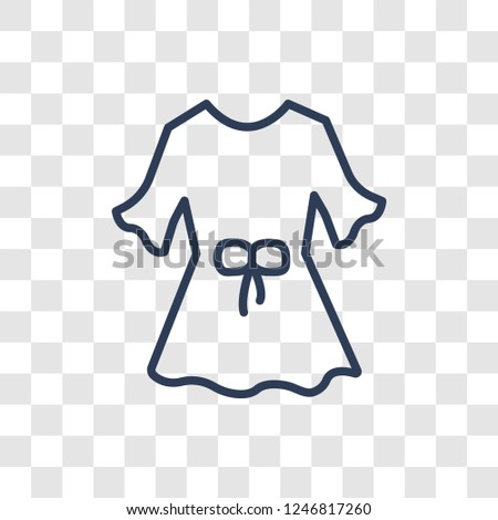Blouse icon. Trendy linear Blouse logo concept on transparent background from Clothes collection