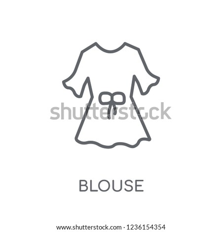 Blouse linear icon. Modern outline Blouse logo concept on white background from Clothes collection. Suitable for use on web apps, mobile apps and print media.
