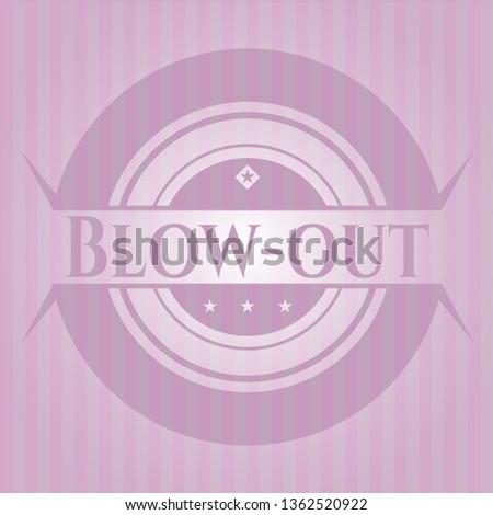 Blow-out vintage pink emblem
