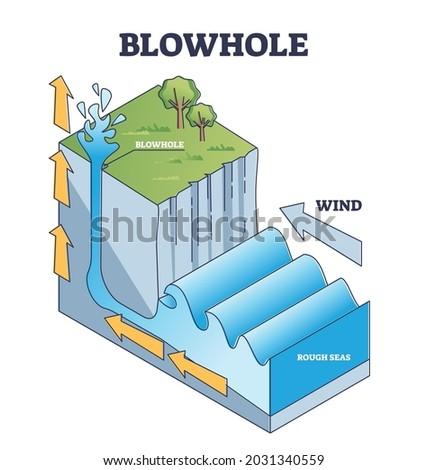 blowhole or marine geyser