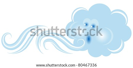 Blowing cloud in blue color