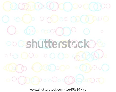 Blowing soap bubbles flying abstract illustration vector backdrop. Girlish backdrop with round shapes.