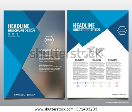 Blue Business Annual Report Brochure Template Presentation - Infographic brochure template