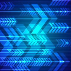 Blue abstract arrows background. Vector illustration.