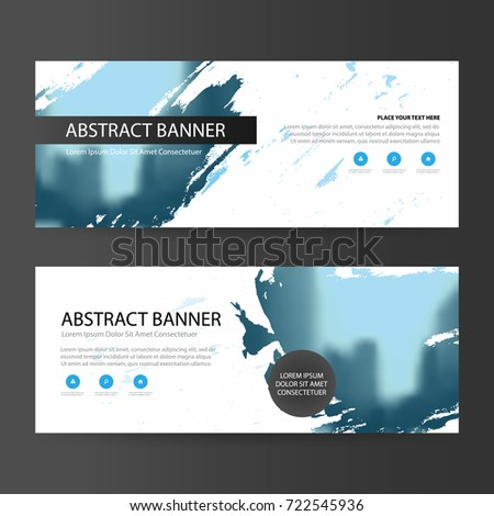 Blue abstract artistic corporate business banner template, horizontal advertising business banner layout template flat design set , clean abstract cover header background for website design