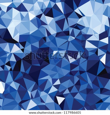 Blue Abstract background, low poly