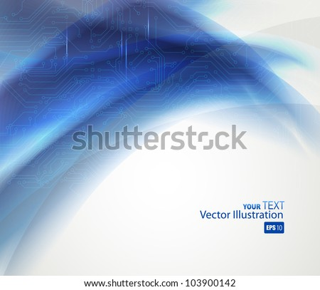 blue Abstract background of digital technologies - stock vector
