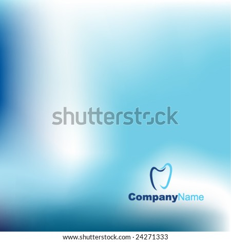 Blue abstract background - trendy dental business website  template with copy space Contemporary texture