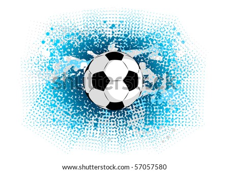 blue abstract background with ball