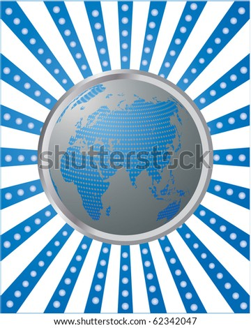 blue abstract background with globe