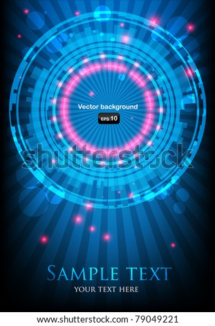 blue abstract background with glowing lights