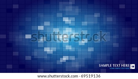 Blue abstract background with place for your text