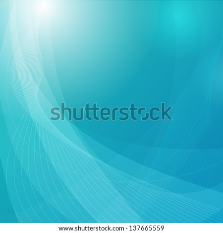 Blue abstract background with space for your text (Vector illustration))