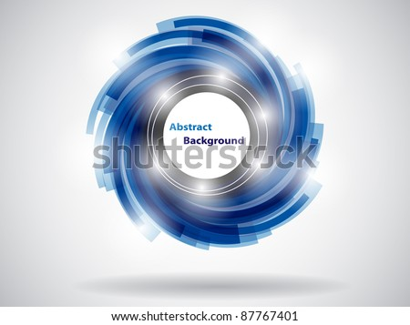 blue abstract card. vector illustration