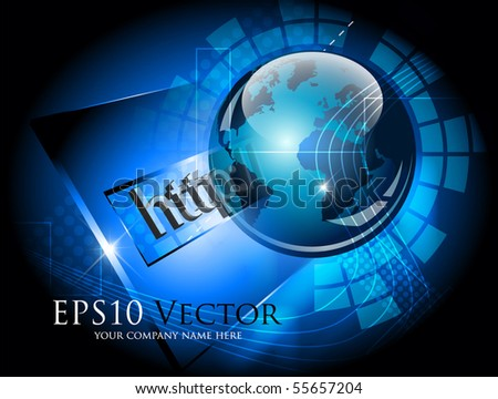 Blue abstract communications concept - vector illustration