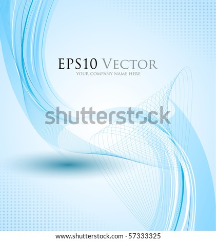 Blue abstract composition - vector illustration