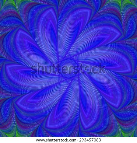 Blue abstract fractal background