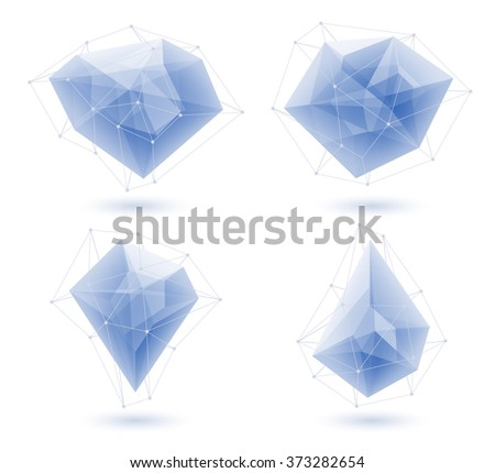 blue abstract glass ice