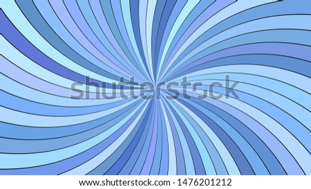 Blue abstract hypnotic striped swirl background design - vector graphic with swirling rays