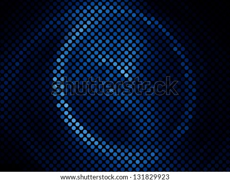 Blue abstract light disco background square pixel mosaic vector eps 10