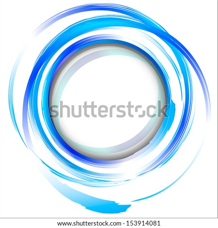 Blue abstract painting design element.