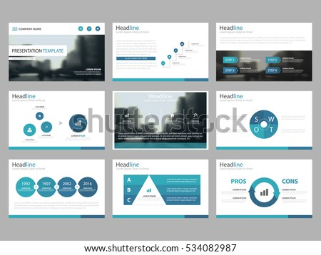 infographic presentation template download free vector art stock