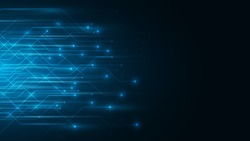 blue abstract technology cyberspace background,speed data transfer background,big data analysis concept