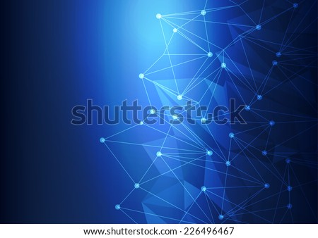 blue abstract technology mesh