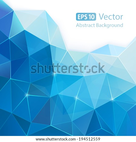 Stock Photo Blue abstract vector background