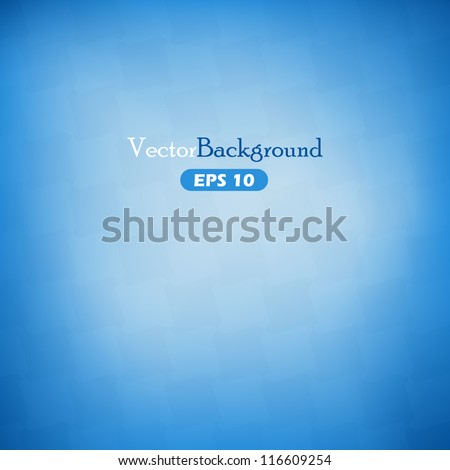 Blue abstract vector background with geometric elements