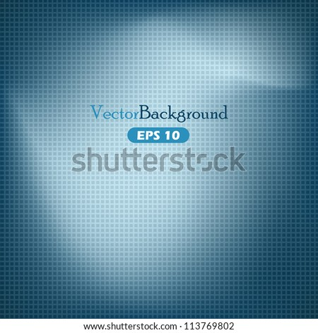 Blue abstract vector background with grid