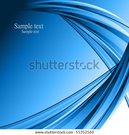 blue abstract vector composition - stock vector
