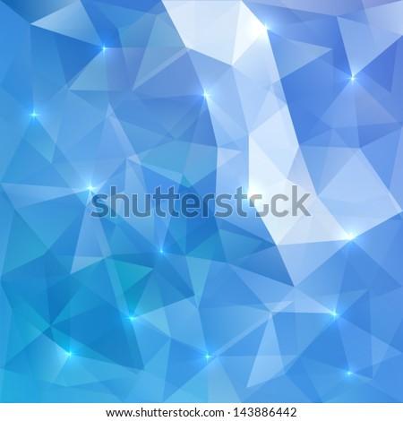 blue abstract vector shining