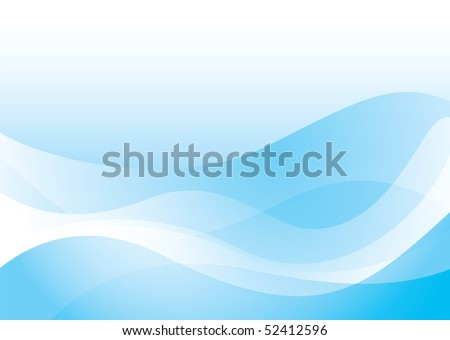 Blue abstract wave background with transparent effect ideal wallpaper