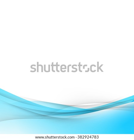 blue abstract wave modernistic layout card with border template