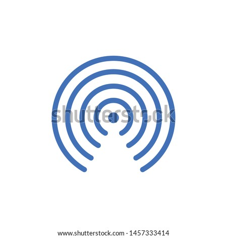 blue airdrop icon isolated on