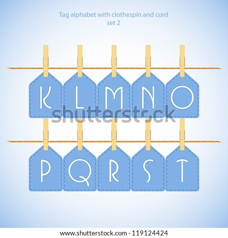Blue alphabet set vol.2 - vector illustration
