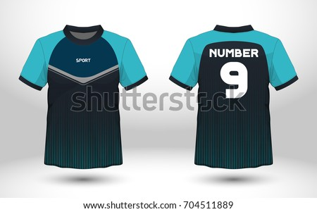 blue and black layout football