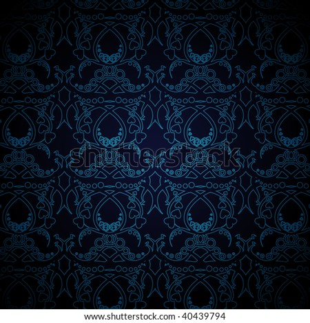 wallpaper blue and black. stock vector : lue and lack