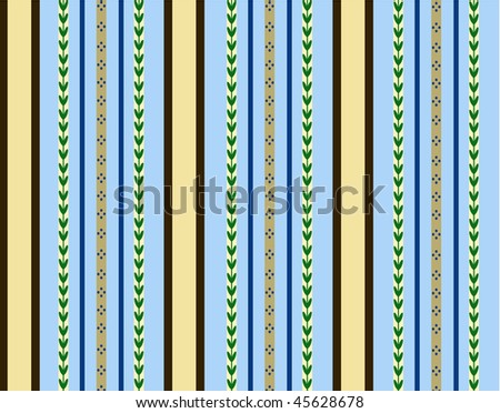 Blue and brown stripes - seamless background