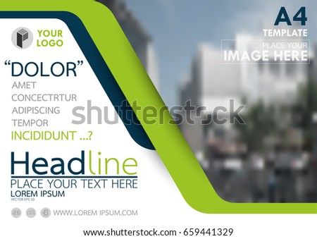 Blue and flyer cover business brochure vector design, Leaflet advertising abstract background, Modern poster magazine layout template, Horizontal annual report for presentation.