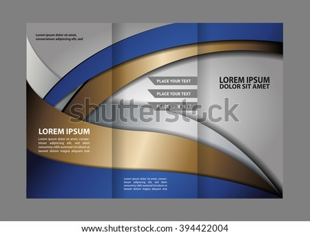 blue and gold business brochure flyer template ez canvas